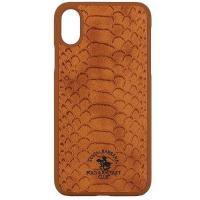 Чехол для iPhone X Santa Barbara Knight PC+кожа (Коричневый)