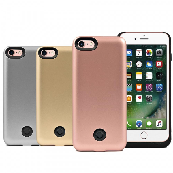 Чехол-дополнительный аккумулятор Backup power для Apple iPhone 7 серебро (3800mAh)