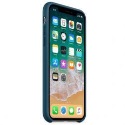 Чехол для iPhone X Силиконовый , цвет «космический синий»