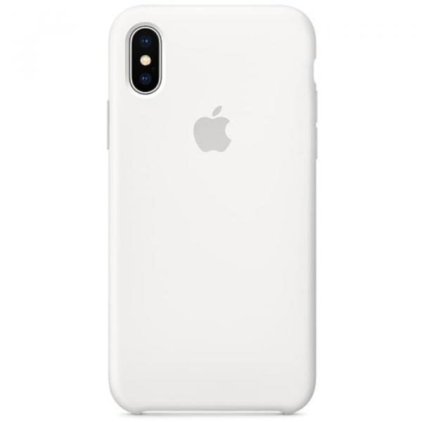 Чехол для iPhone X Силиконовый , цвет (Silver)