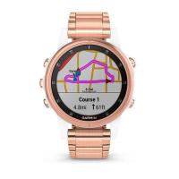 Смарт Часы Garmin Fenix 5S Plus Sapphire Rose Gold / Metal Gold Band