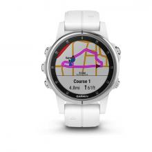 Смарт Часы Garmin Fenix 5S Plus Sapphire White / White Band