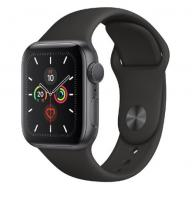 Apple Watch 5 40mm Space Gray Aluminum Case with Black Sport Band