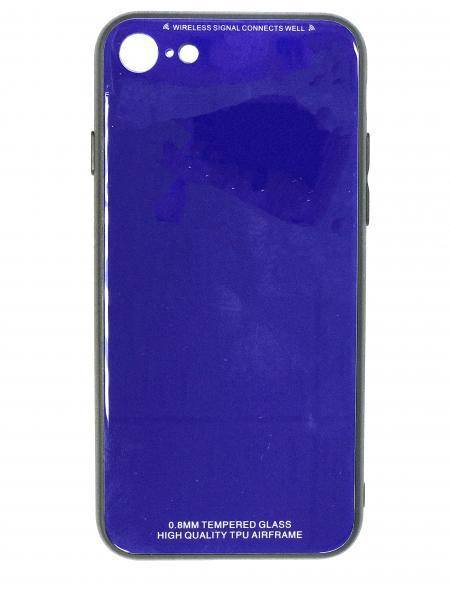 Чехол бампер Jorita Tempered Glass TPU Bumper Case (Blue) для iPhone 7/8