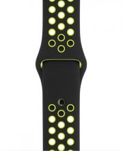 Ремешок Aple Whatch Nike 38 mm чёрный/зелёный