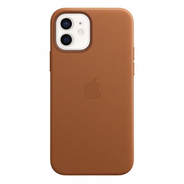 Кожаный чехол MagSafe для iPhone 12 mini, золотисто-коричневый цвет