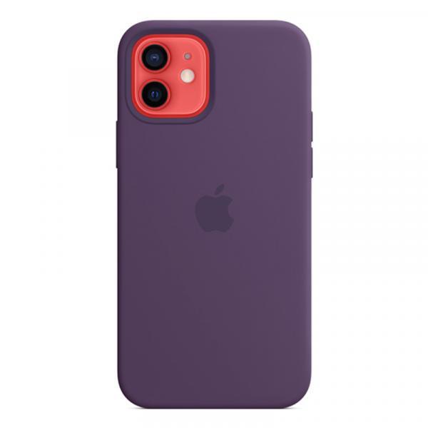 Силиконовый чехол MagSafe для iPhone 12 Pro/iPhone 12, цвет «аметист»