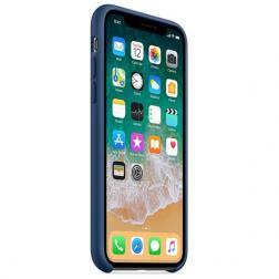 Чехол для iPhone X Силиконовый , цвет «тёмный кобальт»