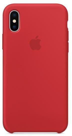 Чехол для iPhone X Силиконовый , цвет (Red)