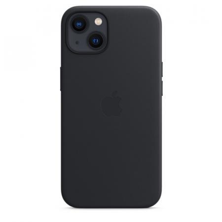Кожаный чехол MagSafe для iPhone 13 mini, цвет «тёмная ночь»