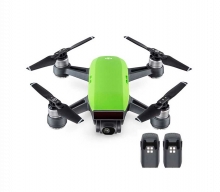 Квадрокоптер Spark + 2 доп. батареи, зеленый