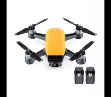 Квадрокоптер Spark + 2 доп. батареи, желтый