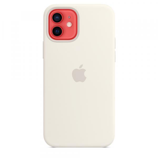 Силиконовый чехол MagSafe для iPhone 12 и iPhone 12 Pro, белый цвет