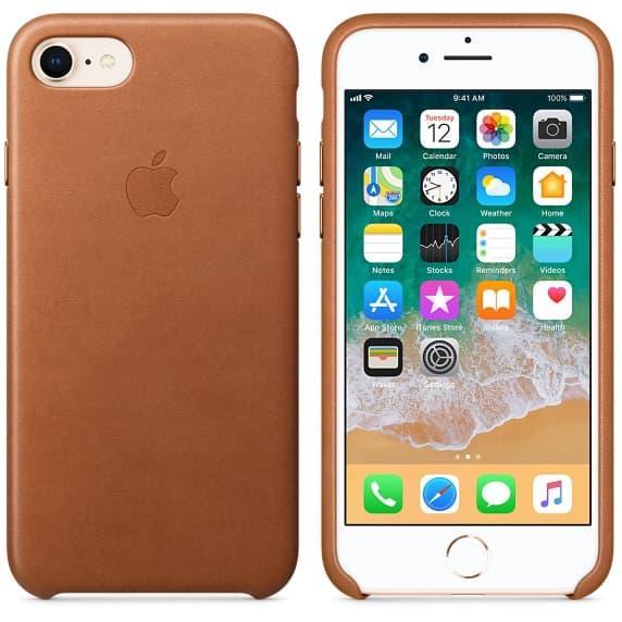 Кожаный чехол для iPhone 7 Golden Brown