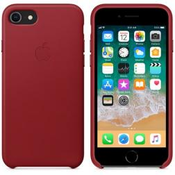 Кожаный чехол для iPhone 7 Red