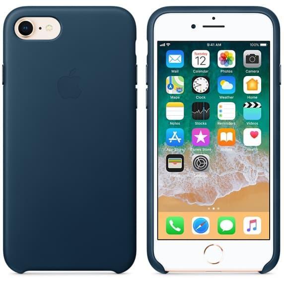 Кожаный чехол для iPhone 7 Blue Ocean
