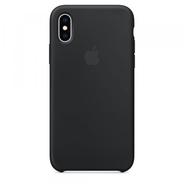 Силиконовый чехол для iPhone XS, цвет черный