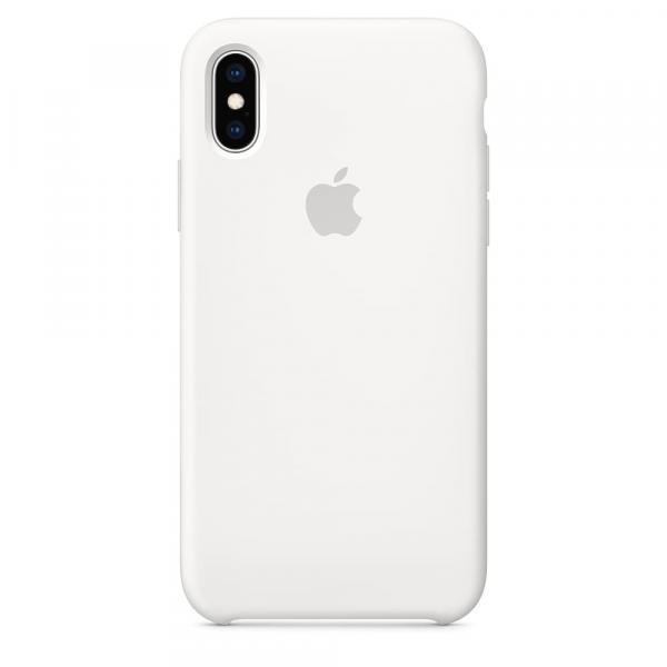 Силиконовый чехол для iPhone XS, цвет белый