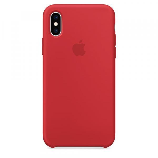 Силиконовый чехол для iPhone XS, цвет красный