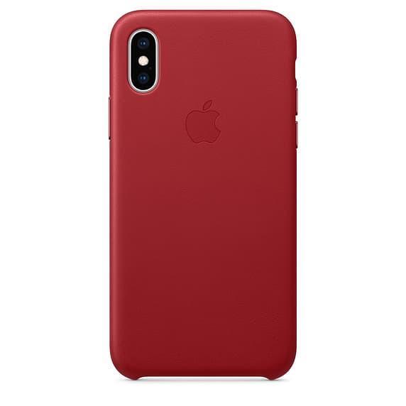 Кожанный чехол для iPhone XS Max, цвет красный