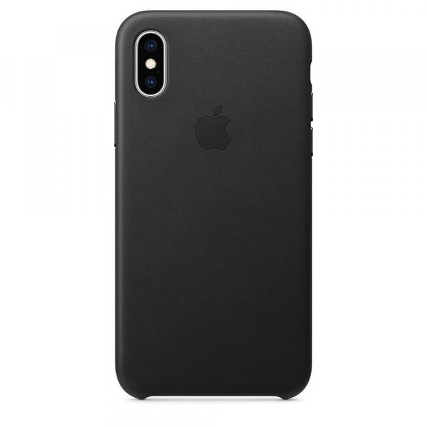 Кожанный чехол для iPhone XS Max, цвет черный