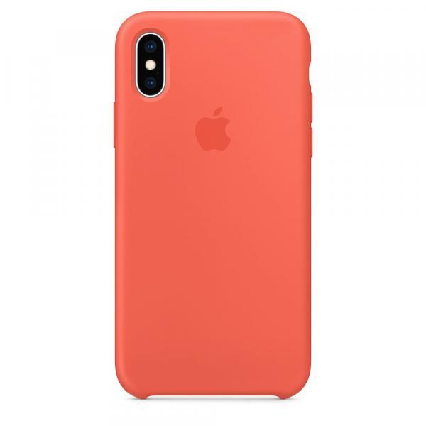 Кожанный чехол для iPhone XS, цвет оранжевый