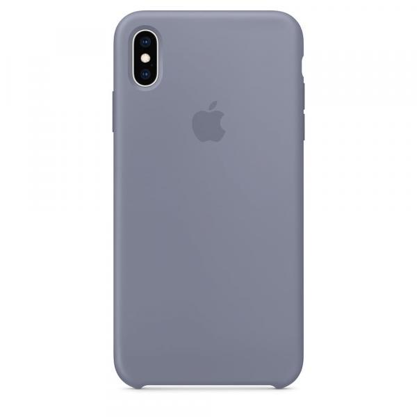 Силиконовый чехол для iPhone XS Max, цвет темно-серый