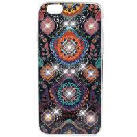 Силиконовый чехол-накладка для iPhone 6/6S со стразами Swarovski Beckberg Exotic series