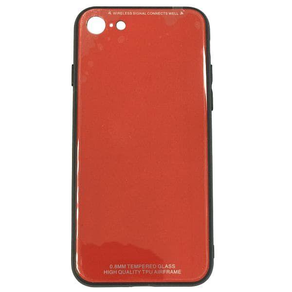Чехол бампер Jorita Tempered Glass TPU Bumper Case (Red) для iPhone 7/8