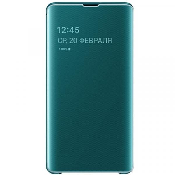 Чехол Clear View на Samsung s 10 + (cobalt blue)
