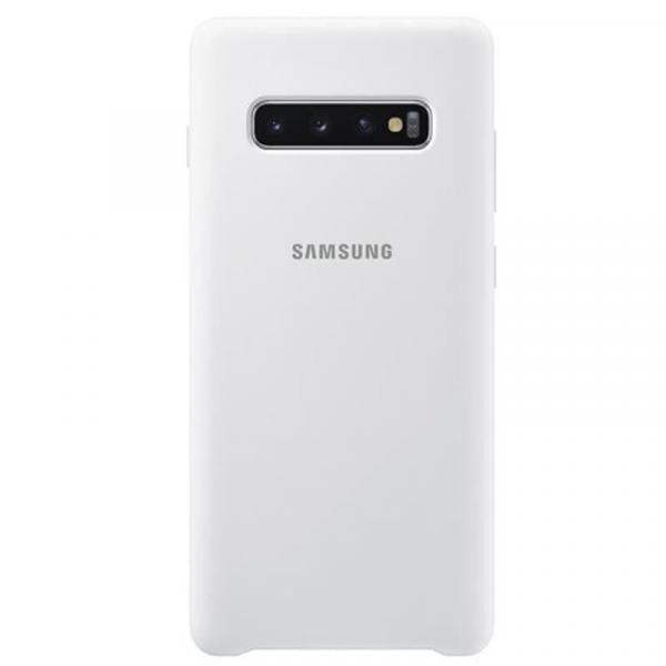 Чехол Samsung Silicone Cover для Galaxy S10 Plus белый