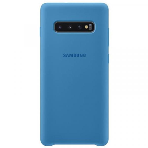 Чехол Samsung Silicone Cover для Galaxy S10 Plus синий