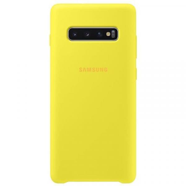 Чехол Samsung Silicone Cover для Galaxy S10 Plus желтый