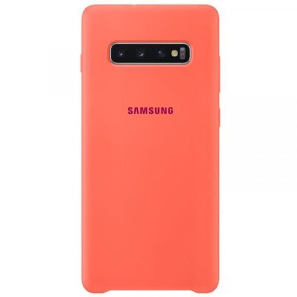 Чехол Samsung Silicone Cover для Galaxy S10 Plus розовый