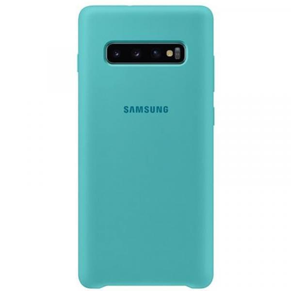 Чехол Samsung Silicone Cover для Galaxy S10 Plus зеленый