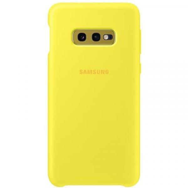 Чехол Samsung Silicone Cover для Galaxy S10e желтый