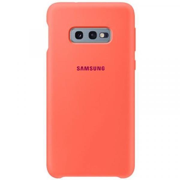 Чехол Samsung Silicone Cover для Galaxy S10е розовый