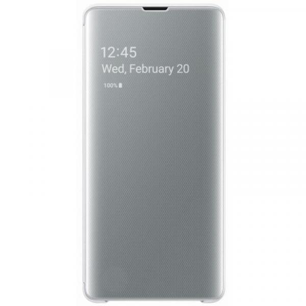 Чехол Clear View на Samsung s 10 + (Silver)