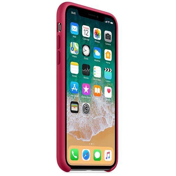 Чехол для iPhone X Силиконовый , цвет «красная роза»