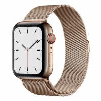 Apple Watch S5 44mm (Cellular) Gold Stainless Steel / Gold Milanese Loop