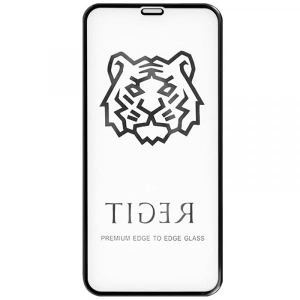 Защитное стекло для iPhone XR Tiger 5D (Черный)