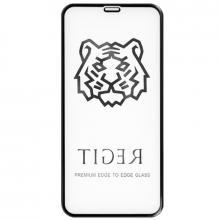 Защитное стекло для iPhone X/XS Tiger 5D (Черный)