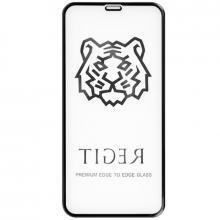 Защитное стекло для iPhone XS MAX Tiger 5D (Черный)