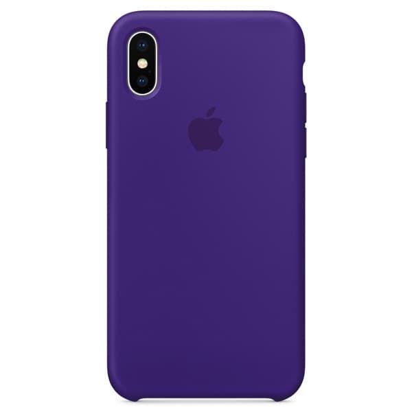 Чехол для iPhone X Силиконовый , цвет «ультрафиолет»